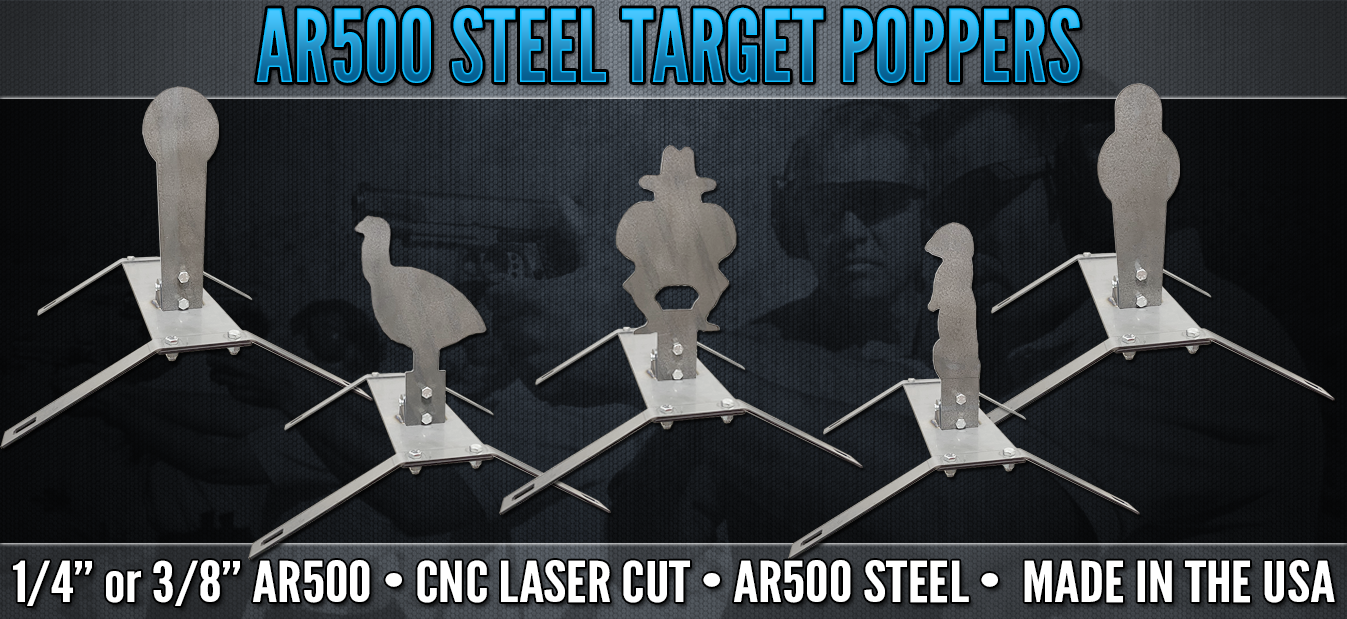 """USA MADE!! AR500 Steel Target Dueling Tree DIY Kit 6pc 6/"""" x 1//4/"""" Pad with Tubes"""